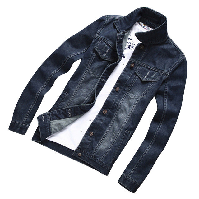 HEE GRAND Men Denim Jacket Casual Men Slim Fit Brand Men Denim Coat Hight Qulity Jacket Men Plus Size Denim Jacket MWJ2233