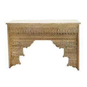 ORNATE CARVED CONSOLE - A