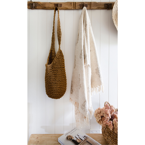 ADHIRA UNBLEACHED COTTON THROW