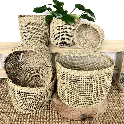 ARTISAN SEAGRASS BASKETS MORGAN