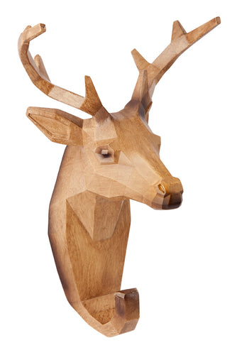 WOODEN LOOK DEER WALL HANGER