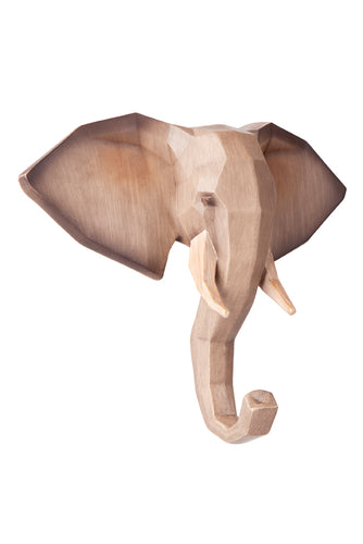 WOODEN LOOK ELEPHANT WALL HANGER