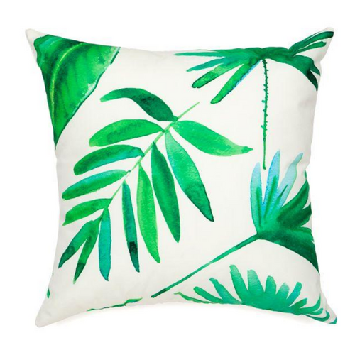 BOTANICAL OUTDOOR CUSHION - GREEN