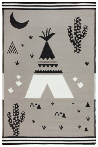 TEEPEE INDOOR OUTDOOR KIDS RUG 120 x 179 cm