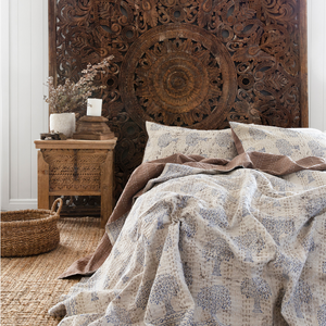 MUD PRINT TREE BED SPREAD SET - QUEEN / KING