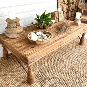 LOW INDIAN WEATHERED TABLE