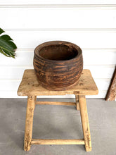OLD WOODEN POT LARGE - 5