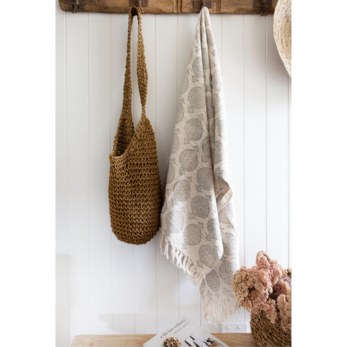INDU UNBLEACHED COTTON THROW