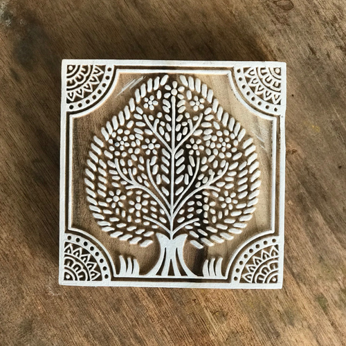 WOODEN TREE BLOCK STAMP