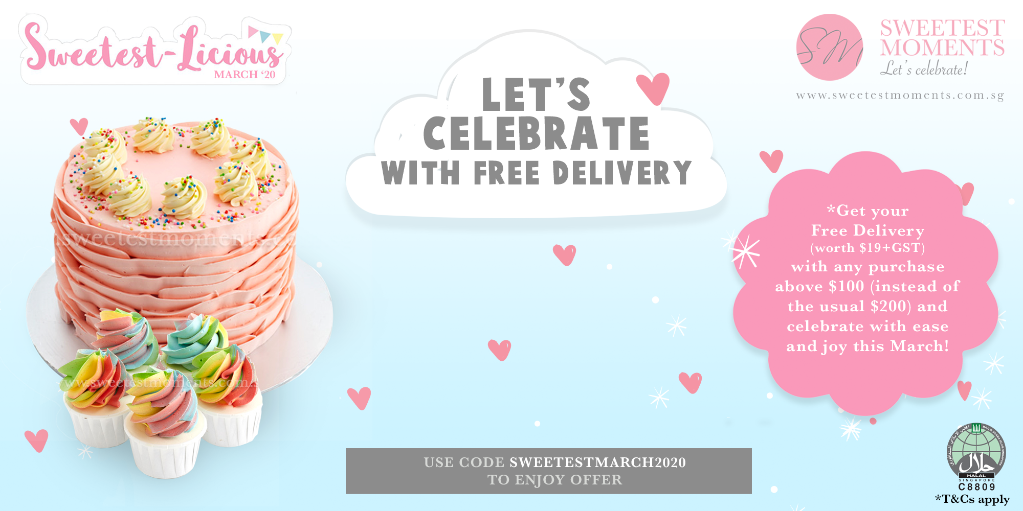 Sweetestlicious March 2020 Promotion