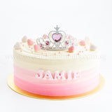 CFR23 Baby Tiara SWEETEST MOMENTS MOIST CHOCOLATE RED VELVET CAKE BABY KIDS BIRTHDAY FULL MONTH BUTTERCREAM CROWN 10 inch