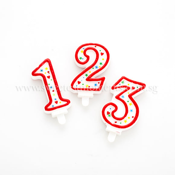 Numeric Candle Cake Topper 1 2 3