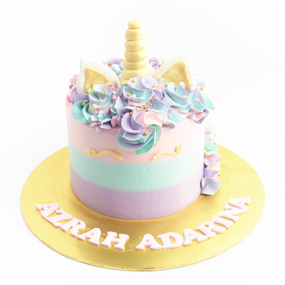 CKR37 Ombre Unicorn Sweetest Moments Birthday Cake Buttercream