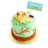 CLR02 Baby Tiger Cub Sweetest Moments Full Month Birthday Cake Fondant