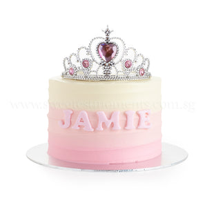CFR23 Baby Tiara SWEETEST MOMENTS MOIST CHOCOLATE RED VELVET CAKE BABY KIDS BIRTHDAY FULL MONTH BUTTERCREAM CROWN
