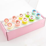 CK03 Friends Forever Sweetest Moments Full Month Standard Cupcake Buttercream Fondant Personalised Box of 10