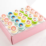 CK03 Friends Forever Sweetest Moments Full Month Standard Cupcake Buttercream Fondant Personalised Box of 20