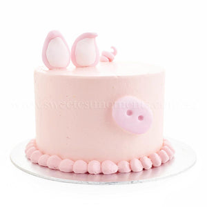 CFR24 Pastel Piggy sweetest moments 6 inch cake buttercream fondant moist chocolate red velvet