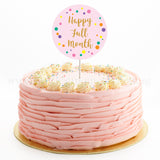 CFR17 Classic Ruffles Sweetest Moments Full Month Cake Buttercream Pink Flag Topper 10 inch