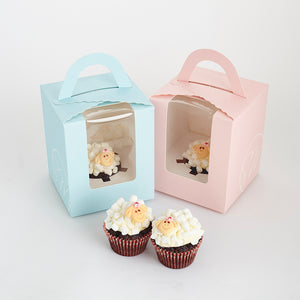 CM08 Baa Baa Cupcakes Sweetest Moments Full Month Mini Cupcake Buttercream Individually-packed Pink blue sheep