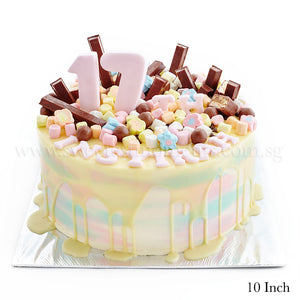 CRR10 Candy Land sweetest moments 21st happy birthday kit kat marshmallow cake