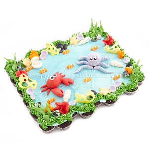 CMP08 pull apart mini cupcakes sweetest moments underwater paradise crab octopus
