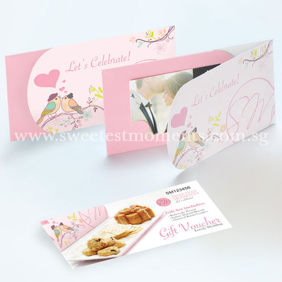 Wedding Guo Da Li Gift Voucher VW01 Lovely Wedding Gift Voucher Cake Present Italian Almond Biscotti Oatmeal Raisin Cookies