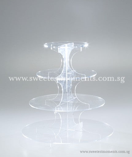 4-Level Acrylic Tier Rental Sweetest Moments Cakes Cupcakes Display Dessert Table