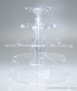 5-Level Acrylic Tier Rental Sweetest Moments Cakes Cupcakes Display Dessert Table