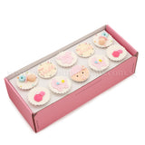 CF06 Jolly Beanie sweetest moments standard cupcake moist chocolate full month girl pink box of 10