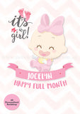 DIY Dessert Table Pack Sweetest Moments Full Month 100th Day Classic Girl A0 Poster