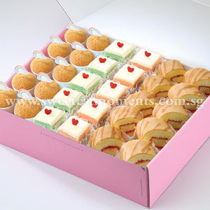 AC13 Modern Treats 7 Tea Party Sets Sweetest Moments Mini Muffins Pastel Cubes Swiss Rolls