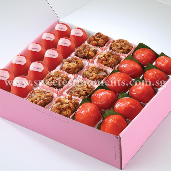 AC14 Traditional Treats 3 Tea Party Sets Sweetest Moments Good Luck Red Eggs Glutinous Rice Ang Ku Kuehs