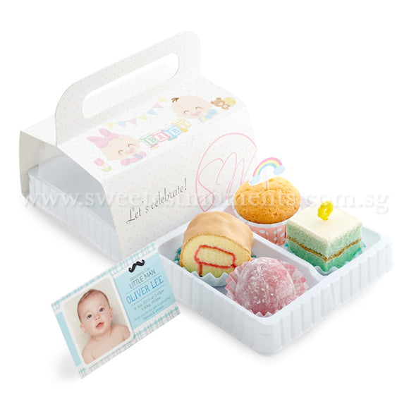 BF02 Sweets 4U Full Month Package Sweetest Moments Swiss Roll Pastel Cube Mini Muffin Mochi