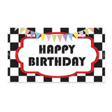 Flag Topper Cake Race Track Personalised Message Well-Wishes Sweetest Moments