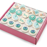 CF03 Cradled Cuties Sweetest Moments Full Month Standard Cupcake Buttercream Fondant Blue Box Of 20