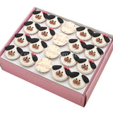 CF09 Happy Puppies Sweetest Moments Full Month Standard Cupcake Fondant Box of 20