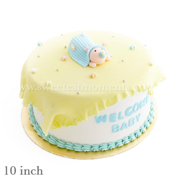 CFR11 Sweet Dreams Sweetest Moments Full Month Cake Fondant Blue