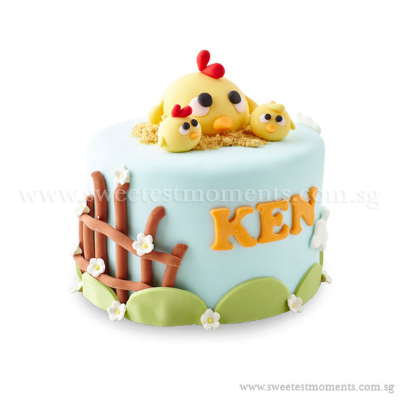 CFR15 Chicky Farm Sweetest Moments Full Month Cake Fondant