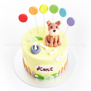 CFR16 Puppy Wonderland Sweetest Moments Full Month Cake Fondant