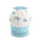 CFR21 Mister Cupcake Sweetest Moments Full Month Birthday Cake Fresh Cream Boy Blue