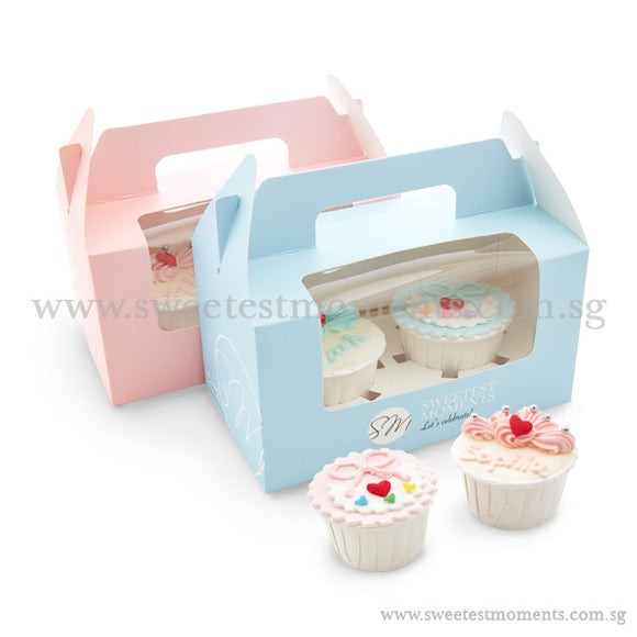 CFT04 Crown & Bib Sweetest Moments Full Month Standard Cupcake Buttercream Fondant Twin Packed Door Gifts