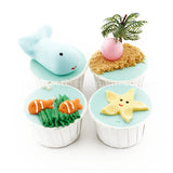 CK04 Beach Theme Sweetest Moments Full Month Standard Cupcake Buttercream Fondant