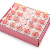 CK06 Princess Theme Sweetest Moments Birthday Standard Cupcake Buttercream Pink Box of 20