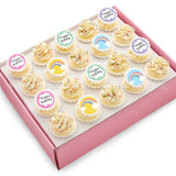 CK09 Rainbow Wishes Sweetest Moments Birthday Standard Cupcake Buttercream Fondant Box of 20