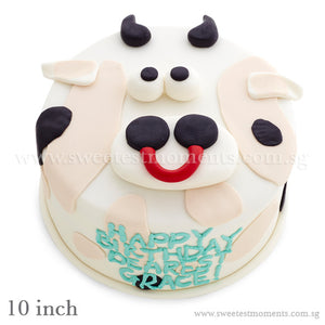 CKR05 Moo-Moo Sweetest Moments Birthday Cake Fondant 10 inch