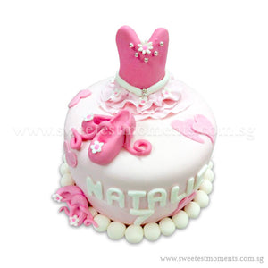 CKR17 Ballerina Sweetest Moments Birthday Cake Fondant