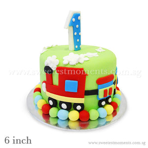 CKR23 The Toy Train Sweetest Moments Birthday Cake Fondant 2-Tier