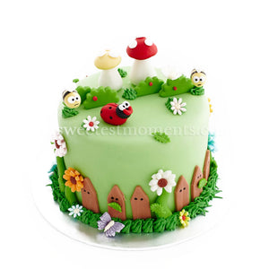 CKR24 D'Gardens Sweetest Moments Birthday Cake Fondant