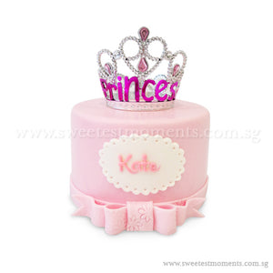 CKR25 Royal Princess Sweetest Moments Full Month Birthday Cake Fondant 6 inch